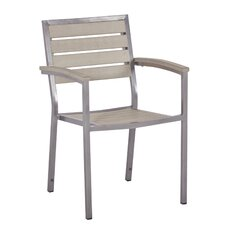 Syn-Teak Stacking Dining Arm Chair