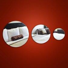 3-tlg. Wandspiegel-Set Circle