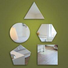 5-tlg. Wandspiegel-Set Shapes