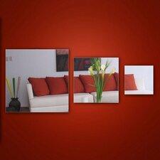 3-tlg. Wandspiegel-Set Square