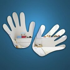 2-tlg. Wandspiegel-Set Hands
