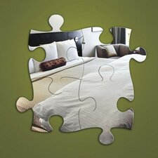 4-tlg. Wandspiegel-Set Jigsaw