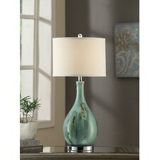 """Manhattan Sea Scape 30"""" H Table Lamp with Drum Shade"""