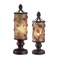 Autumn's 18'' H 2 Piece Table Lamp Set with Drum Shade