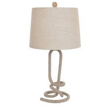 """Twisted Rope 28.5"""" H Table Lamp with Empire Shade"""