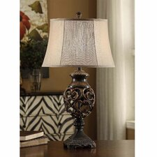 "Scrolled Iron 31"" H Table Lamp with Bell Shade"