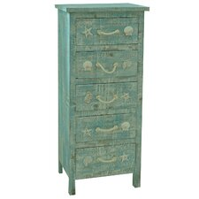 Seaside 5 Drawer Tall Chest
