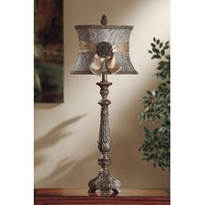 "Layonne 37.5"" H Table Lamp with Oval Shade"