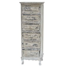 French Script 5 Drawer Tall Chest