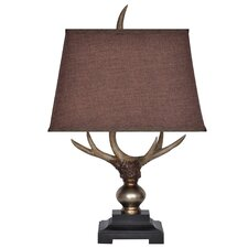 "Monarch Antler 27"" H Table Lamp with Empire Shade"