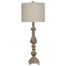 "Slender Avian 34.5"" H Table Lamp with Drum Shade"