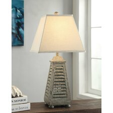"Shutter Tower 28.5"" H Table Lamp with Empire Shade"