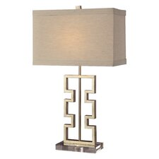"Azteca 27"" H Table Lamp with Rectangular Shade"