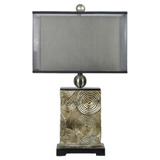 "Manhattan Mancini 28"" H Table Lamp with Rectangular Shade"