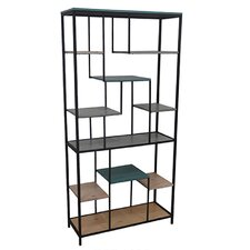 """Harmony Metal 63"""" Accent Shelves Bookcase"""