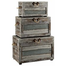 Nantucket 3 Piece Weathered Wood Trunk Set