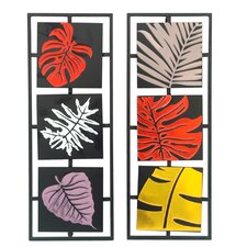2 Piece Bold Leaves Wall Décor Set