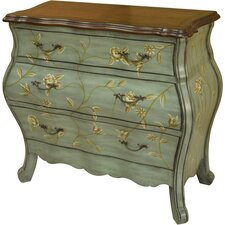Penelope 3 Drawer Shaped Bombe Chest