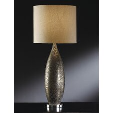 """Manhattan Leopold 33"""" H Table Lamp with Drum Shade"""