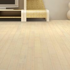 "3-3/4"" Solid Bamboo Hardwood Flooring in White Wash"
