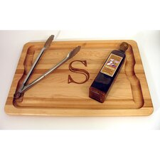 "BBQ Cutting Board 20"" x 14"" Monogrammed Gift Set"