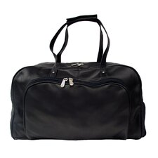 "Traveler Deluxe 17"" Leather Carry-On Duffel"