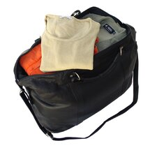 "20"" Large Leather Carry-On Duffel"