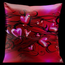 Valentine Hearts Throw Pillow