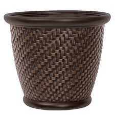 Herringbone Round Pot Planter (Set of 2)