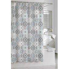 Cotton Urban Tiles Shower Curtain
