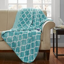 Heated Ogee Oversized Heated Throw Blanket