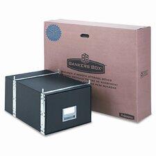 StaxOnSteel Storage Drawer, Legal, Steel Frame, 15 x 24 x 10-1/2, BLK, 6/Ctn