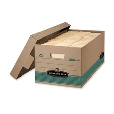 100% Recycled Storage Box, 10w x 24d x 12h, Letter Size, Lift-Off Lid, Kft/Green