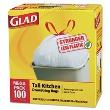 Tall-Kitchen Drawstring Bag - 100 Bags per Box / 1 Box