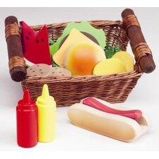 Play Food Picnic Lunch Basket