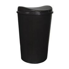 13.8-Gal. Semi-Round Touch Lid Wastebasket (Set of 4)