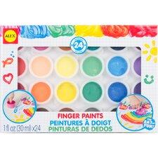 24 Piece Finger Paint Set