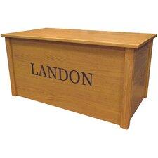 Oak Toy Box With Georgia Font