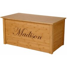 Bamboo Toy Box With Edwardian Font