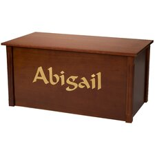 Dark Cherry Toy Box With Calligraphy Font