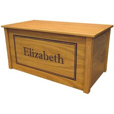 Oak Toy Box With Shadow Bold Font