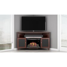 Shaker TV Stand with Curved Electric Fireplace
