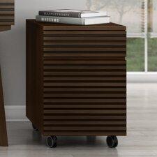 Tango 2 Drawer Mid Century Modern Rolling Pedestal Vertical File
