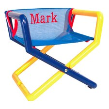 Junior Personalized Kids Director's Chair in Blue Mesh