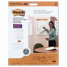 "Self-Stick Wall Easel Pad, 20"" x 23"", 20-Sheets (Set of 2)"