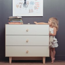 Merlin 3 Drawer Dresser with Rhea Base