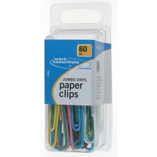 60 Count Jumbo Vinyl Paper Clip (Set of 3)