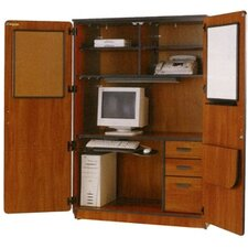 Illusions Armoire Desk with Locking Doors