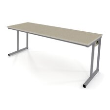 Wide Training Table with Flip-Top Wire Management and Adjustable Height