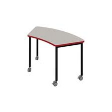 "Inspire Arc 56"" x 24"" Trapezoidal Activity Table"